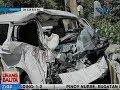 UB: Van, nabagsakan ng malaking bato sa Tuba, Benguet; 8 pasahero, sugatan