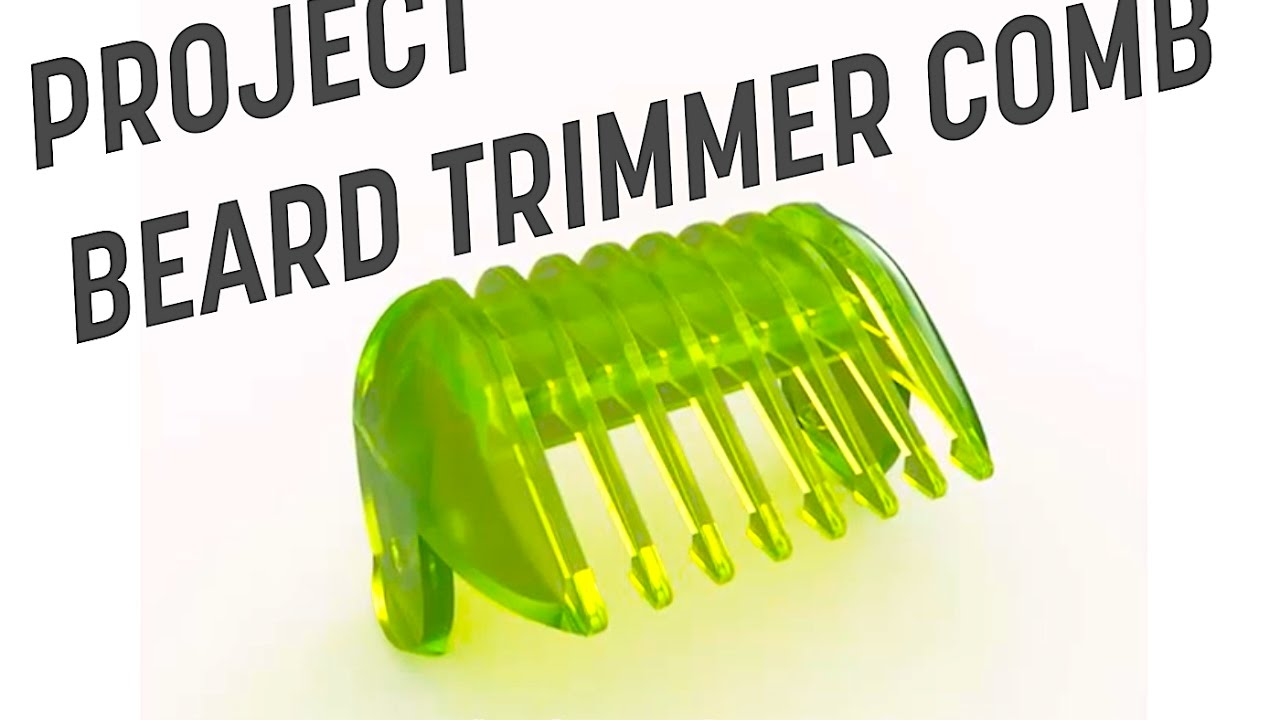 fixing things with 3dprinting beard trimmer comb youtube. Black Bedroom Furniture Sets. Home Design Ideas