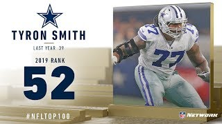 #52: Tyron Smith (OT, Cowboys) | Top 100 Players of 2019 | NFL