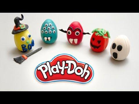 Monstres Halloween 2018 En Pate A Modeler Play Doh Youtube