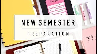 organising and preparing for a new semester