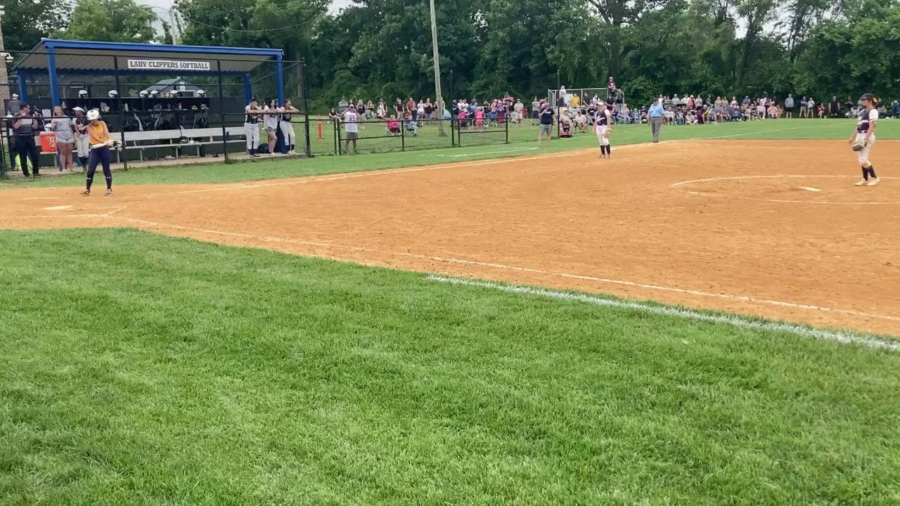Clayton softball celebrates its first-ever S.J. Group 1 title.