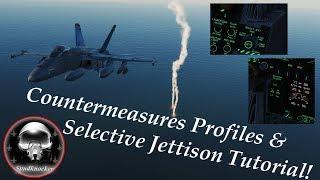 DCS: F/A-18C Hornet   Countermeasures Profiles & Selective Jettison Tutorial!