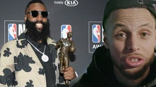 Steph Curry REACTS to James Harden MVP Win on Instagram