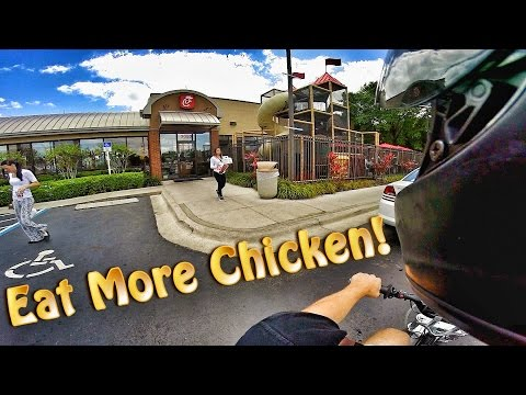Pit Bike Adventures | Chick Fil A Drive Thru On The SSR!