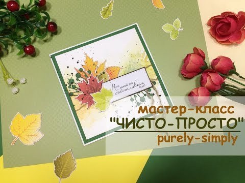 ЧИСТО-ПРОСТО. Мастер-класс. Скрапбукинг. Clean and simple cards. Scrapbooking