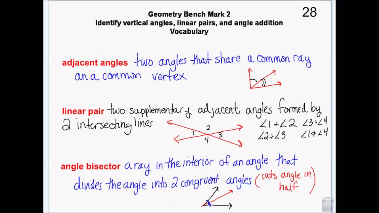 Geometry - Angles - Classify,measure, vertical, adjacent, linear ...
