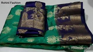 Paithani saree blouse back neck design|cutting and stitching back ...