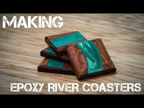 Making Epoxy River Coasters