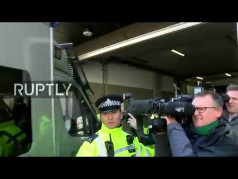 from Westminster Magistrates Court following Assange's arrest: stakeout