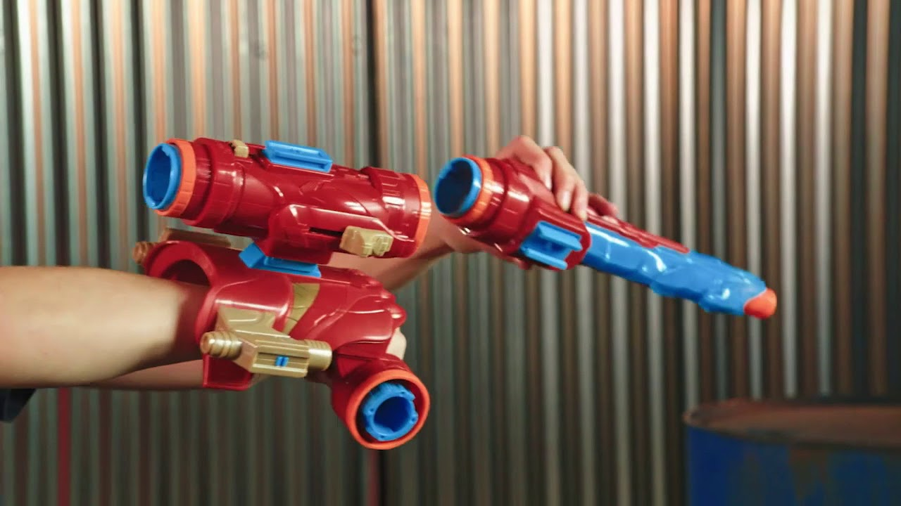 Marvel Avengers Infinity War Nerf Iron Man Assembler Gear Youtube