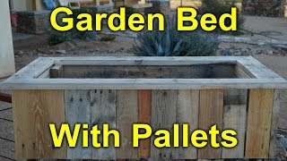 Rustic Garden Bed Built With Pallet Wood