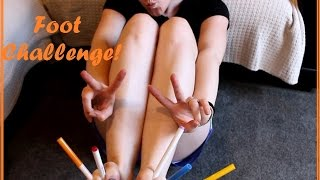 ✩ EP.43 ✩ THE FOOT CHALLENGE or Toe Challenge, whichever you prefer & left handedness!!!!