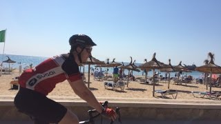 Cycling in northeast Mallorca, Spain.
