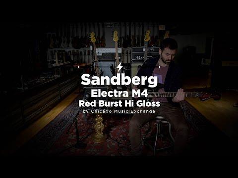 Quick Riffs: Sandberg Electra M4 Red Burst Hi Gloss Bass Demo