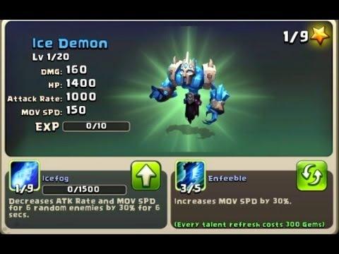 New Hero In Castle Clash - Ice Demon & Glitch!