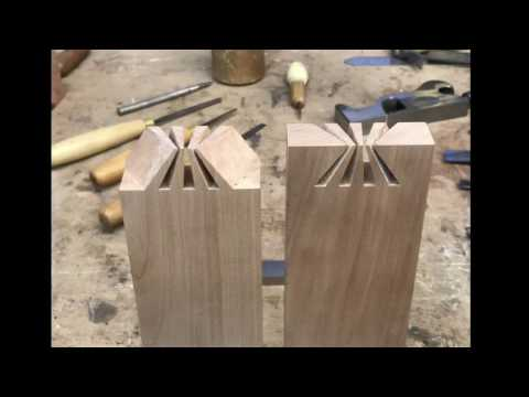 Impossible Japanese dovetail joint revealed.  Japanese joinery  ( Wood Art )