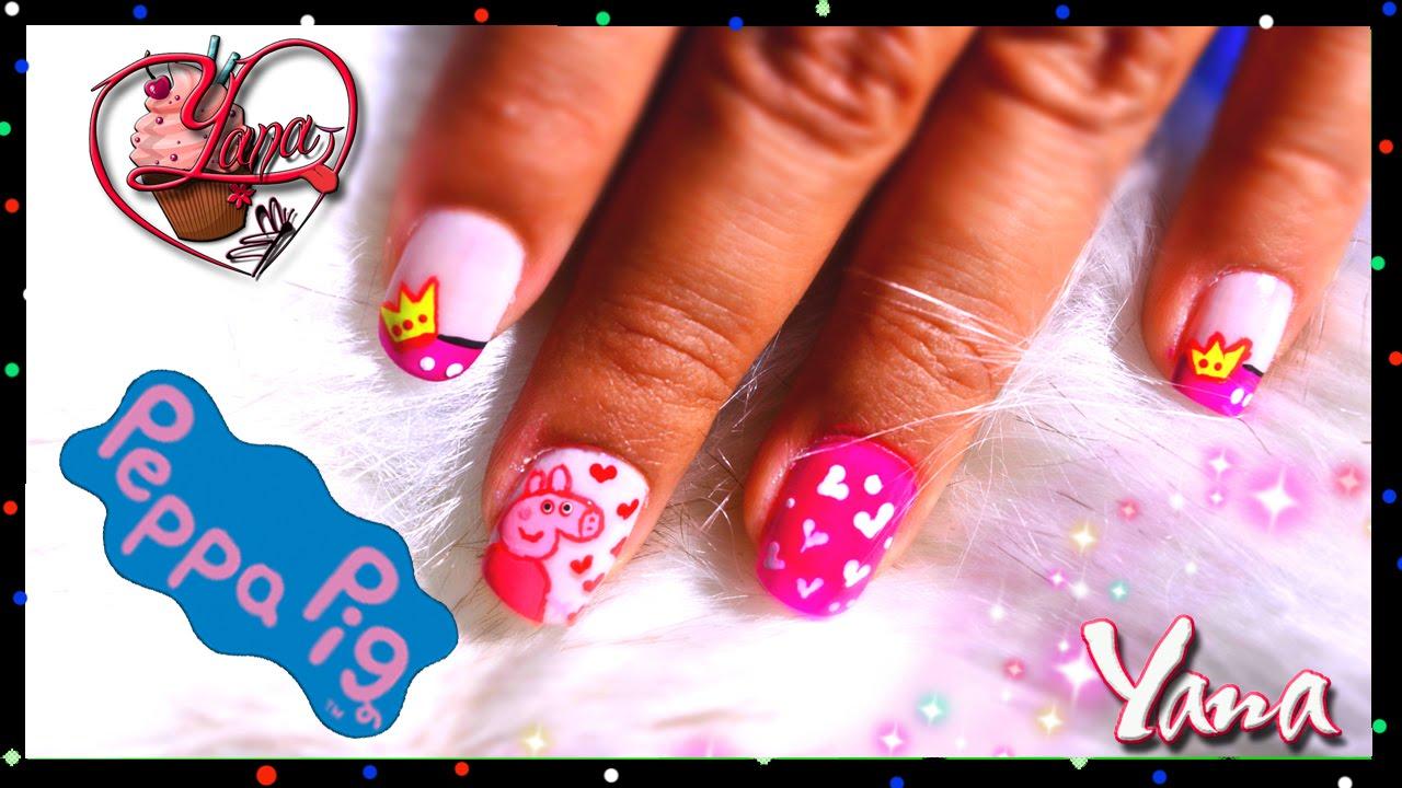 Uñas Decordas Peppa Pig - Yana - Nail Art - YouTube
