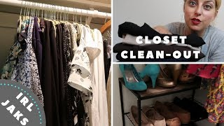 Closet Cleanout 2018   Declutter My Wardrobe With Me