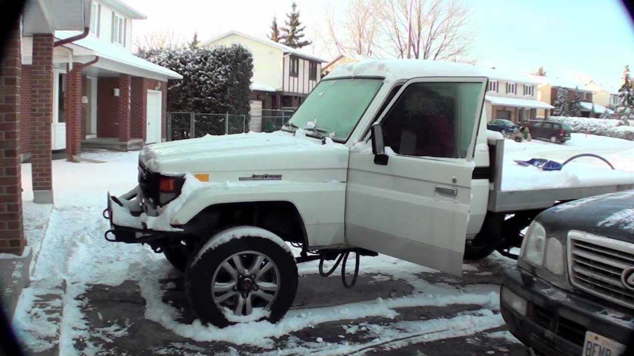 How To Start A Diesel Land Cruiser On A Minus 25 Degree