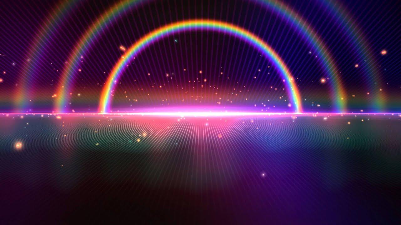 Digital Blasphemy 3d Wallpaper Free 4k Tripple Rainbow Sparkling Space Horizon Beautiful
