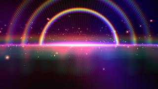 4K Tripple Rainbow Sparkling Space Horizon Beautiful Wallpaper Background Video 2160p Animation
