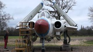 Blackburn Buccaneer S.1. both Gyron Junior engines running at Gatwick Aviation Museum March 9th 2012