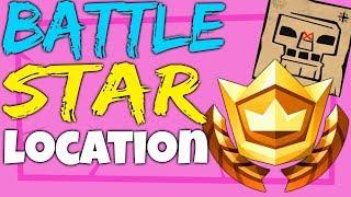 Fortnite BATTLE STAR LOCATION Week 5 Follow the Treasure Map Found in Greasy Grove Season 4