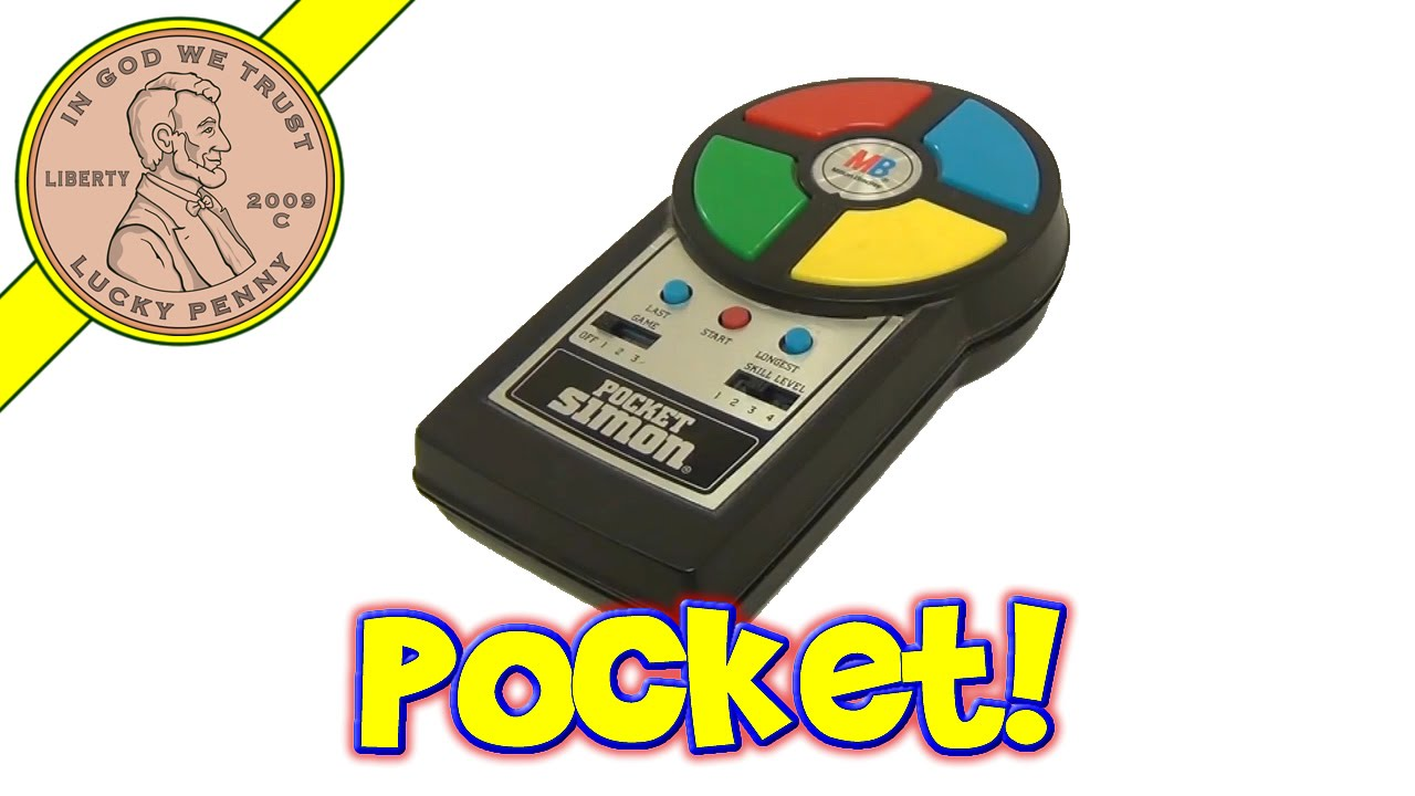 Pocket Simon Hand Held Vintage Electronic Game 1980 Milton Bradley