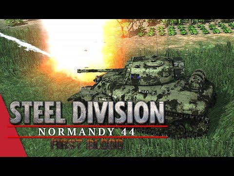 Key To A Breakthrough! Steel Division: Normandy 44 Live Gameplay (Colleville, 4v4)