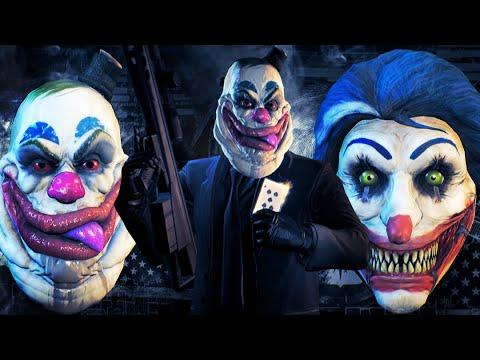Payday 2 New Crimefest Masks Gumbo Smiley Evil Clown