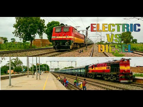 diesel vs electric high speed action!!!
