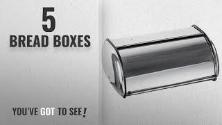 Top 10 Bread Boxes [2018]: Home-it Stainless Steel Bread Box for kitchen, bread bin, bread storage