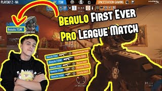 Beaulo First Pro League Match Ever | Abusing Dropshot In Pro League - Rainbow Six Siege