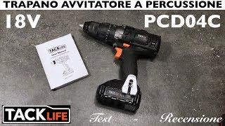 Recensione Trapano avvitatore a batteria TACKLIFE 18V. PCD04C. Con percussione. ricaricabile