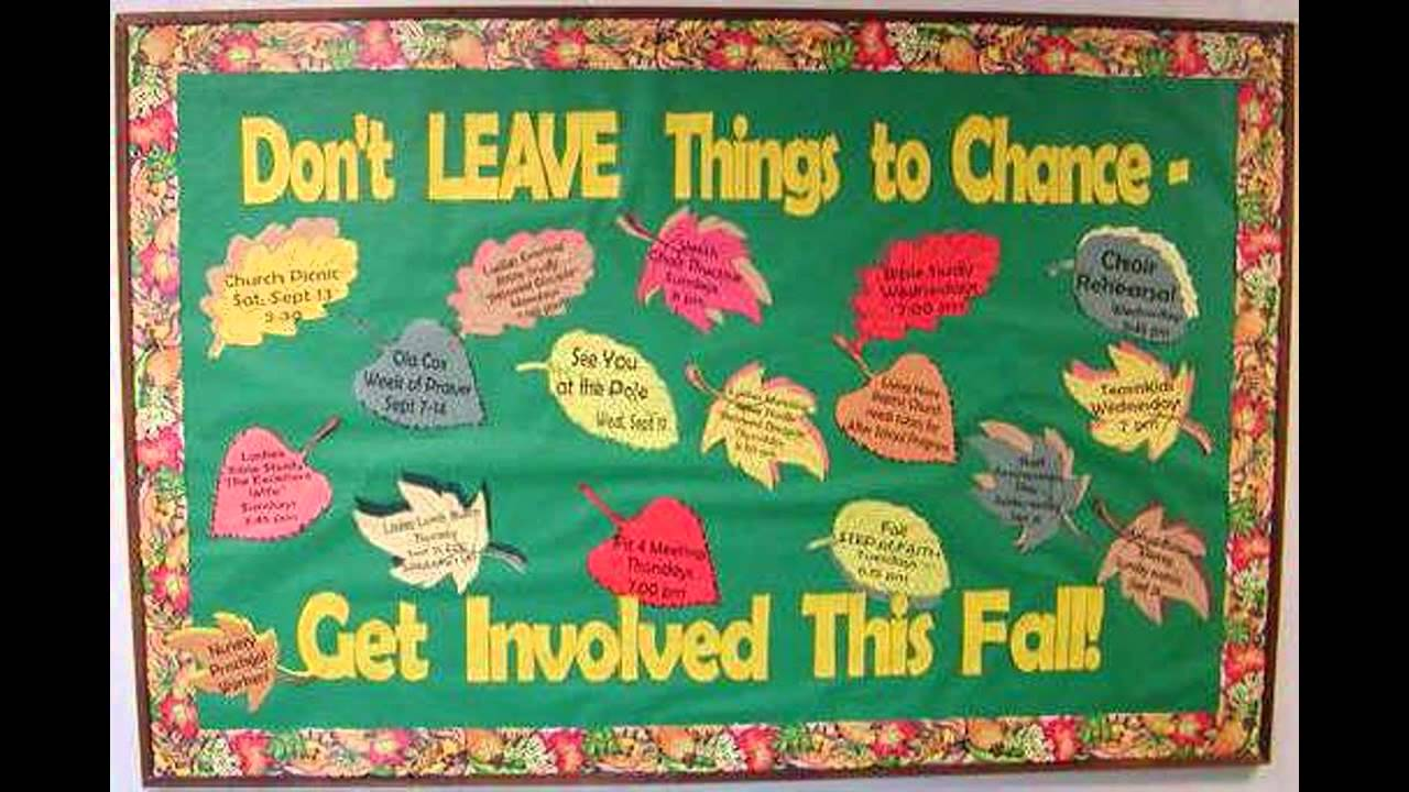 Fall Bulletin Board Idea Decoratings For Teachers Youtube