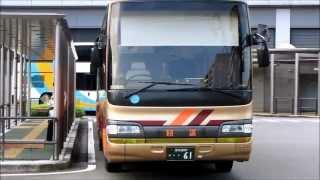 JR四国バス 高速乗合バス 三菱ふそう エアロキング 走行映像 2013.6