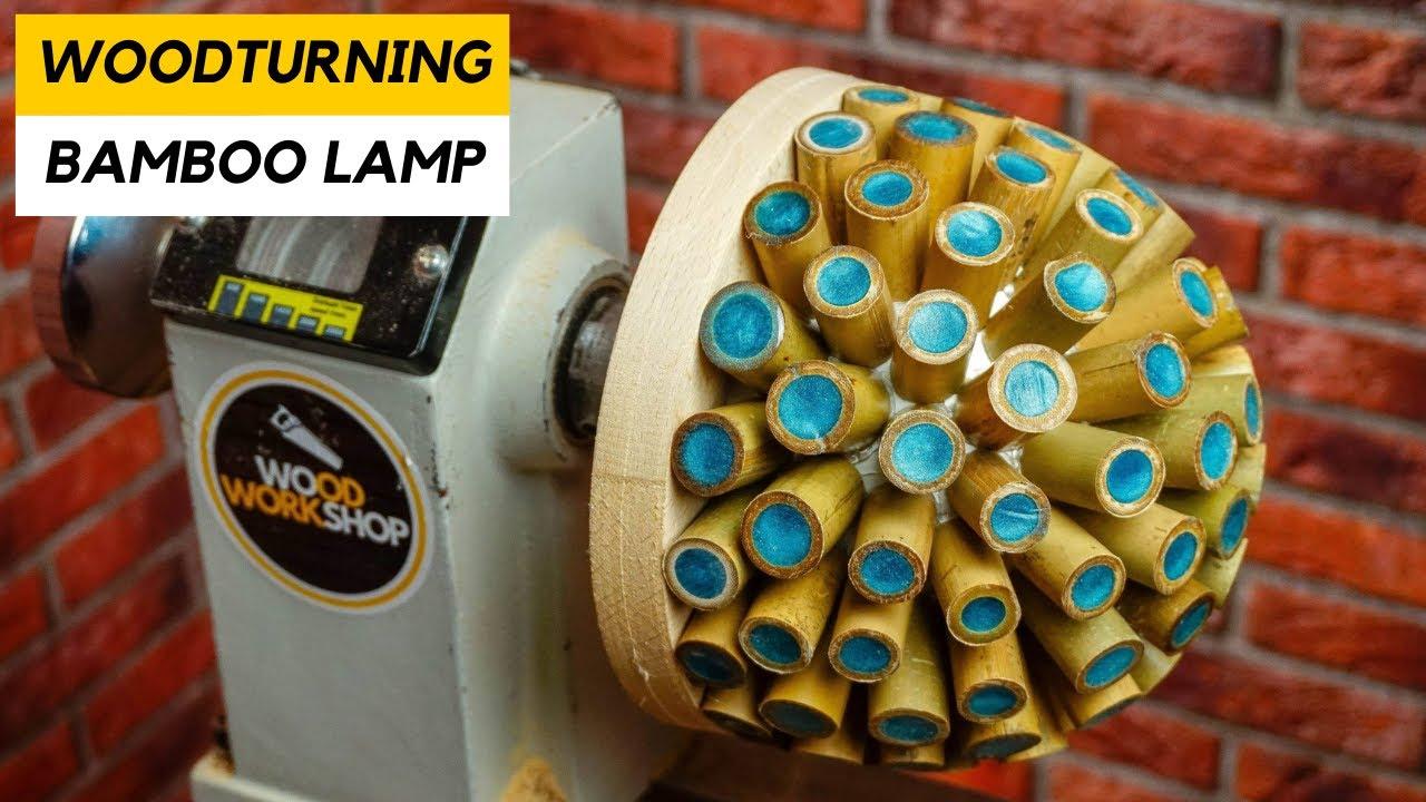 Woodturning - Bamboo Lamp