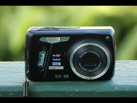 kodak easyshare m575 digital camera review unboxing walk through
