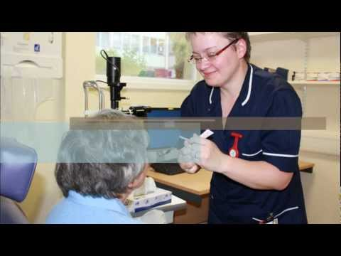 Helping elderly patients administer eye drops