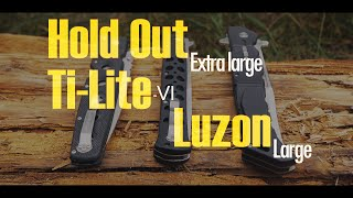 Обзор трёх ножей от компании Cold Steel: Hold Out Extra large vs. Ti-Lite 6 vs. Luzon Large