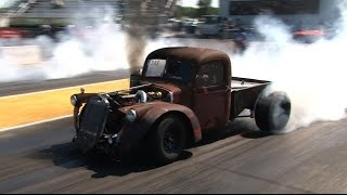Turbo Cummins Diesel Rat Rod Truck - Drag Week 2015