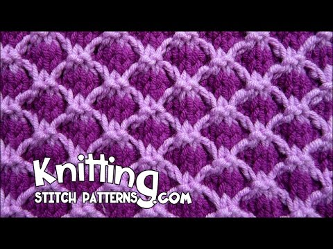 Loom Knitting With Two Colors : Two tone lattice stitch youtube