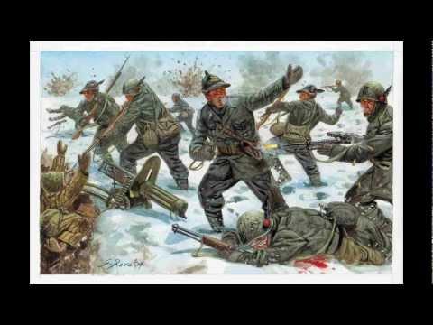 Addio Mia Bella Addio (canto Militare Italiano, Chant Militaire Italien, Italian Military Song)