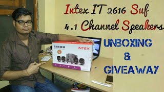 Intex 2616 Suf 4.1 channel Speaker | Giveaway Is Done | Amazon Unboxing | Review