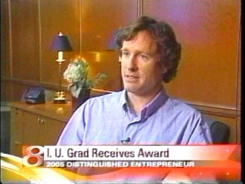 Steve Bellamy- Distinguished Entrepreneur Award as reported on Channel 8(CBS)-Indianapolis- part1