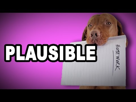 Learn English Words: PLAUSIBLE - Meaning, Vocabulary with Pictures and Examples