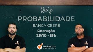 MATEMÁTICA PARA O BNB: DICA DE PROBABILIDADE BANCA CESPE/UnB.