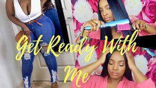 Get Ready With Me |Makeup, Outfit, & UNICE Hair | Porchia Nicole