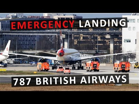 *EMERGENCY LANDING* | BRITISH AIRWAYS | BOEING 787 | FRANKFURT INTERNATIONAL AIRPORT